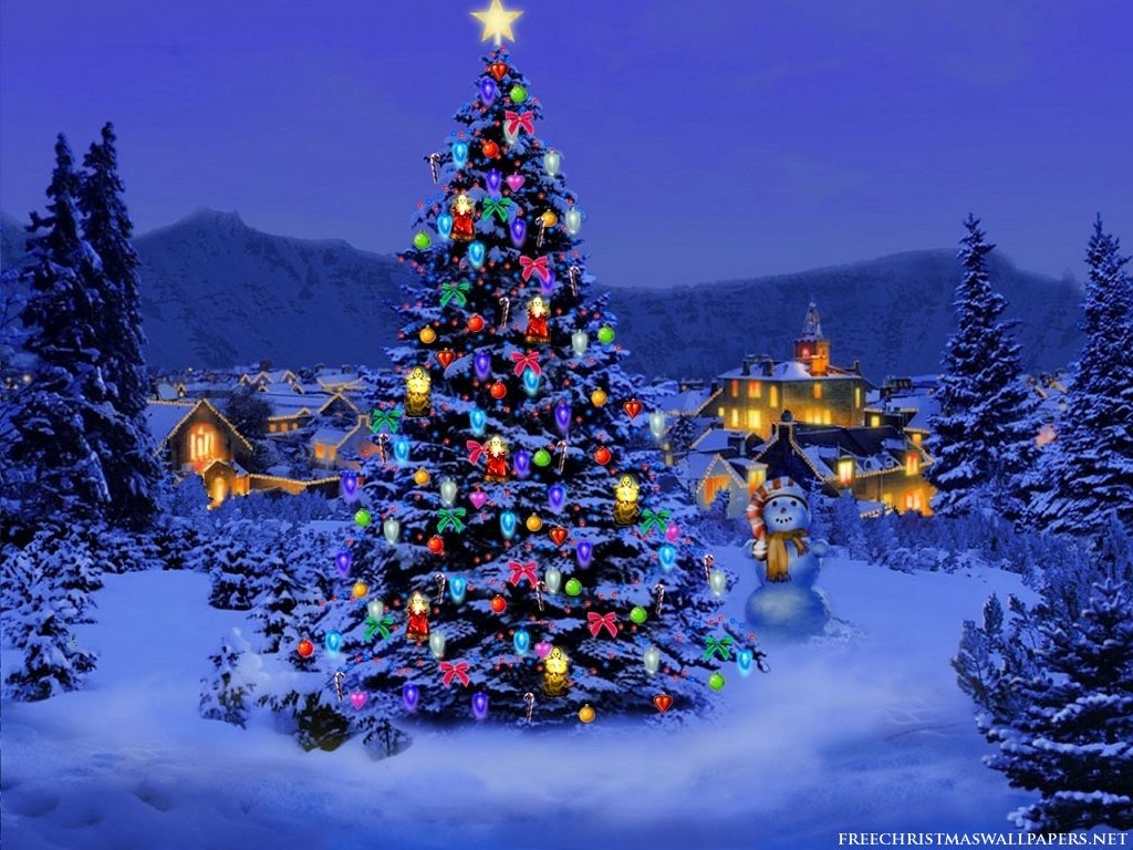 Free Christmas Desktop Wallpaper Photo Trick Christmas Tree Wallpaper for Desktop