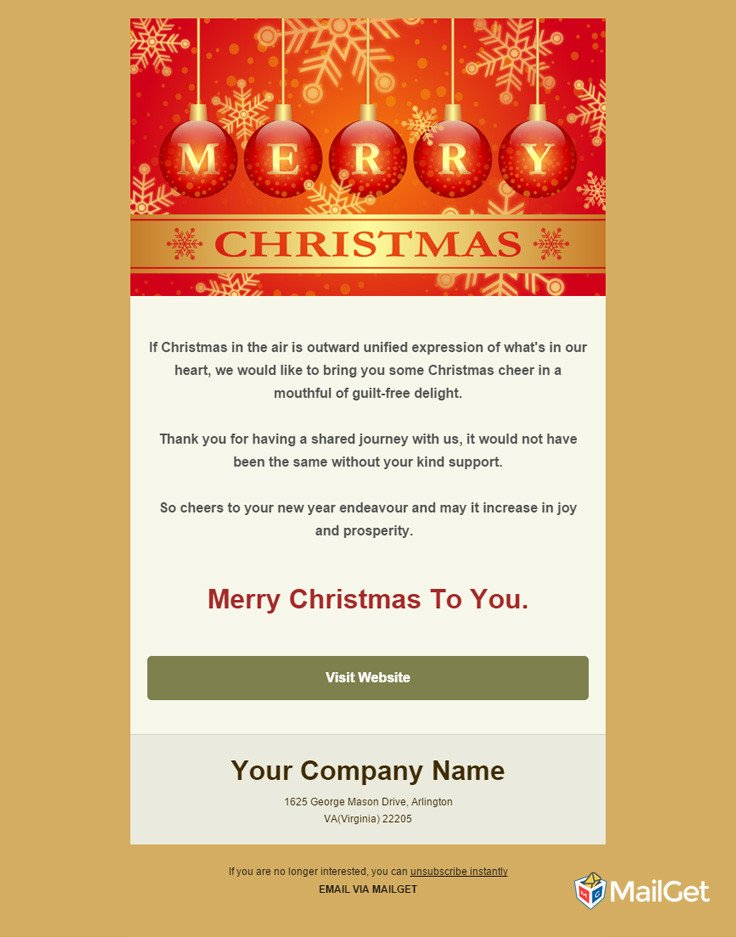 Free Christmas Email Template 10 Best Free Holiday Email Templates