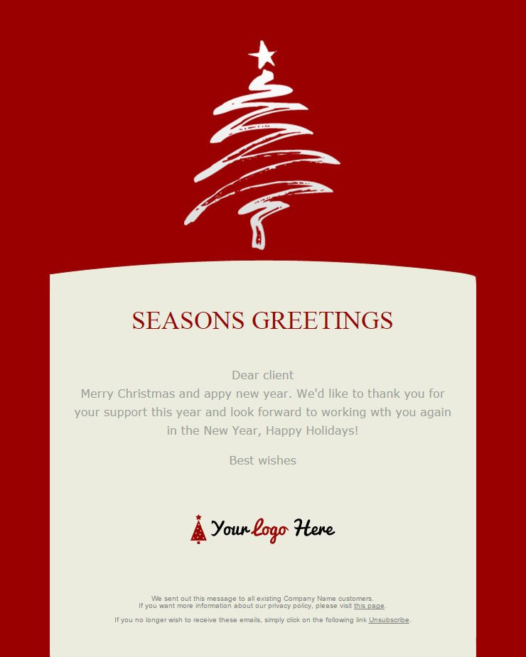 Free Christmas Email Template 104 20 Free Christmas and New Year Email Templates