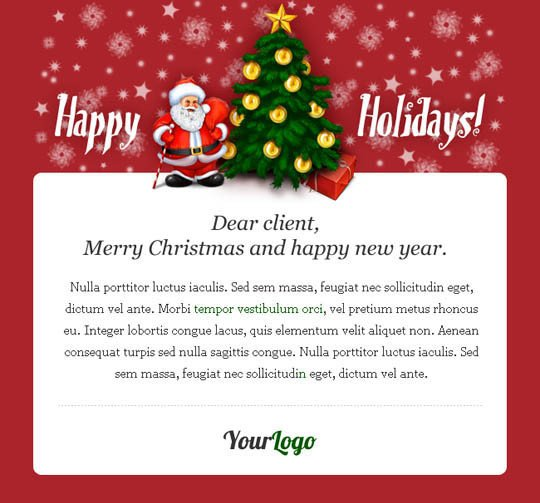 Free Christmas Email Template 17 Beautifully Designed Christmas Email Templates for