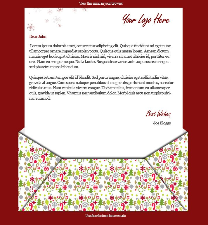 Free Christmas Email Template 2 Free Xmas Email Templates Wired Marketing