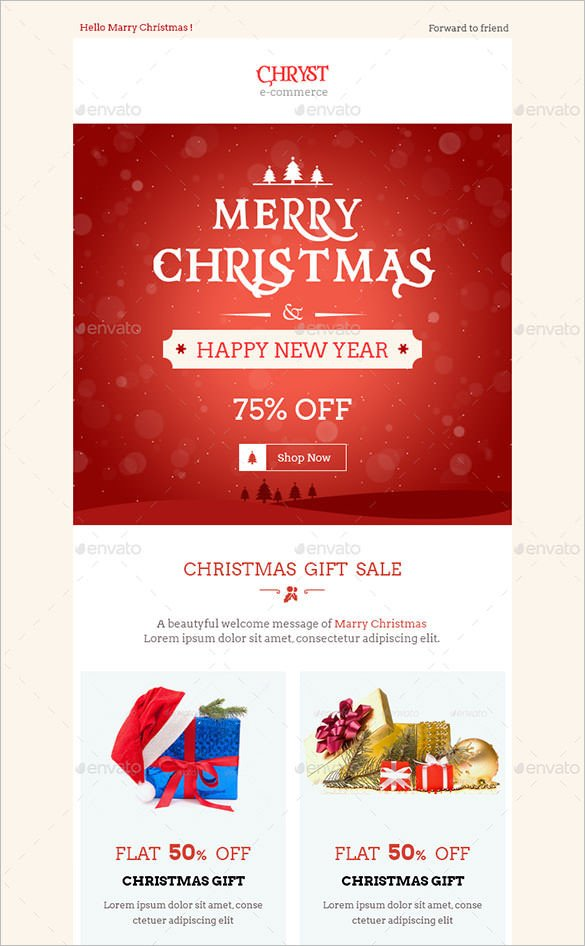 Free Christmas Email Template 38 Christmas Email Newsletter Templates Free Psd Eps