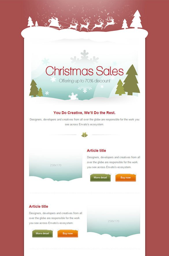 Free Christmas Email Template 70 Christmas Email Templates – Free Psd Eps Ai HTML