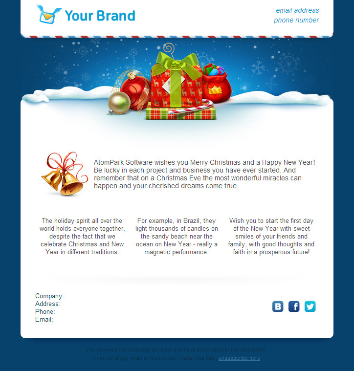Free Christmas Email Template Christmas Email Templates for Free 2014 From atompark