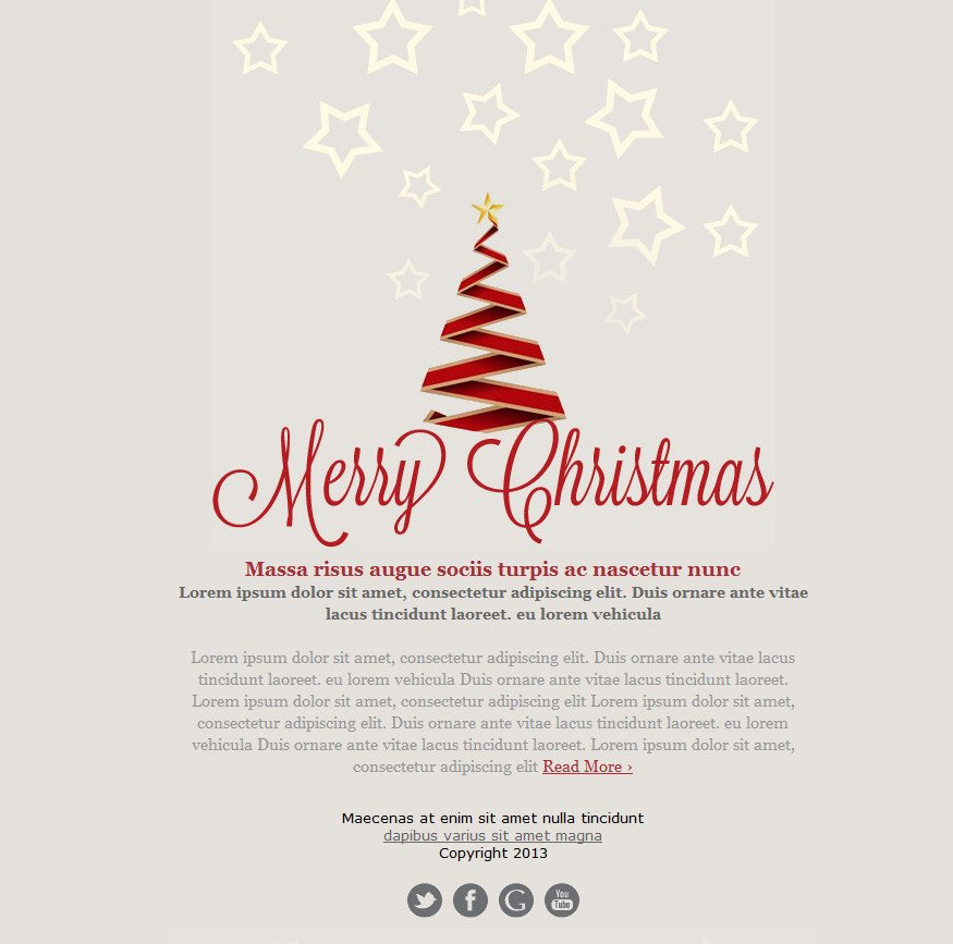 Free Christmas Email Template Free Email Templates for Christmas Card Greeting