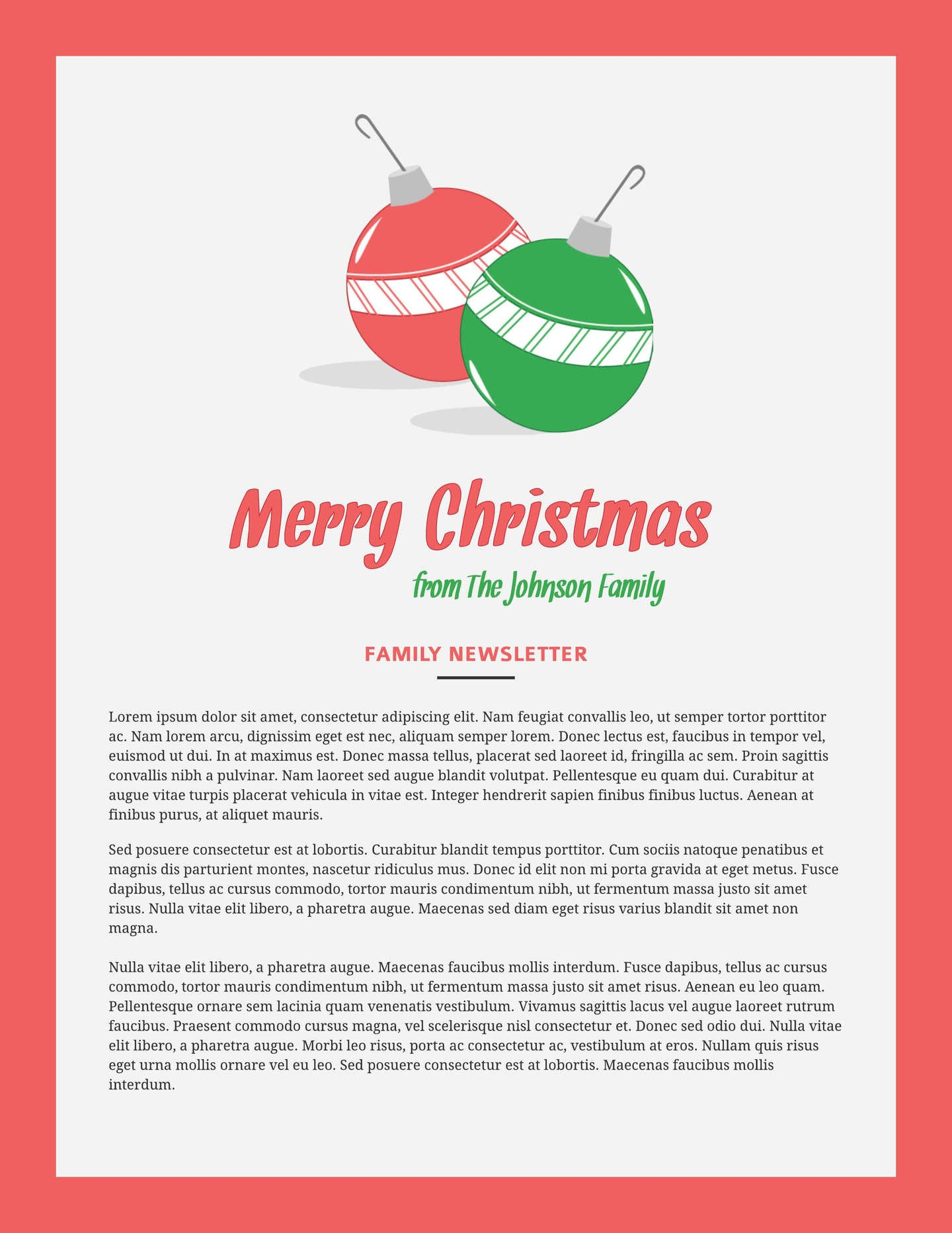 Free Christmas Email Template Free Printable Newsletter Templates & Email Newsletter