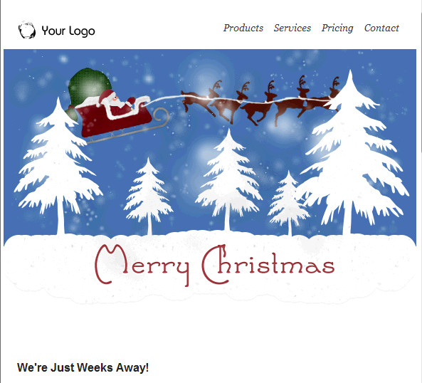 Free Christmas Email Template Groupmail Version 6 0 0 7 with All New Holiday Email