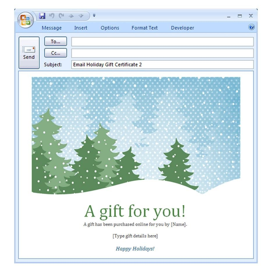 Free Christmas Email Template Holiday Email Template