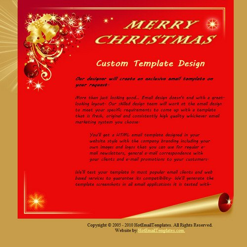 Free Christmas Email Template Merry Christmas