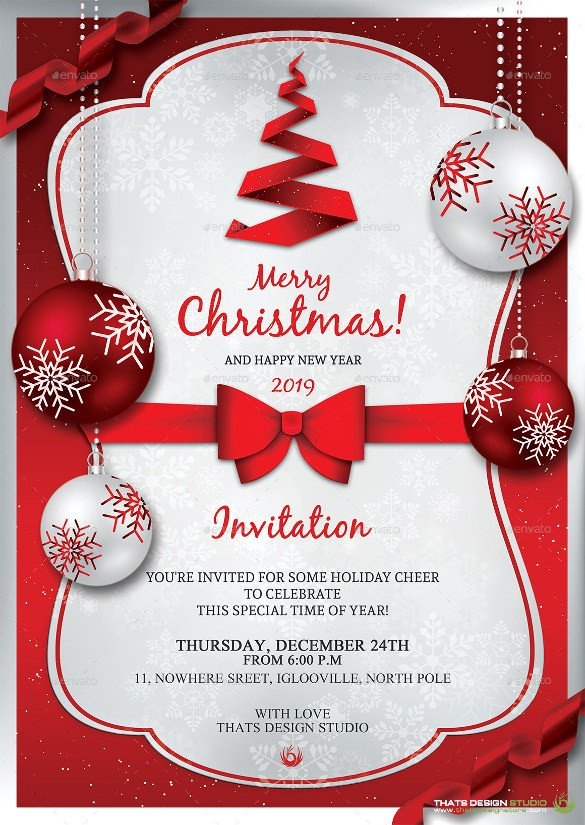 Free Christmas Party Invitation Templates 32 Christmas Invitation Templates Psd Ai Word