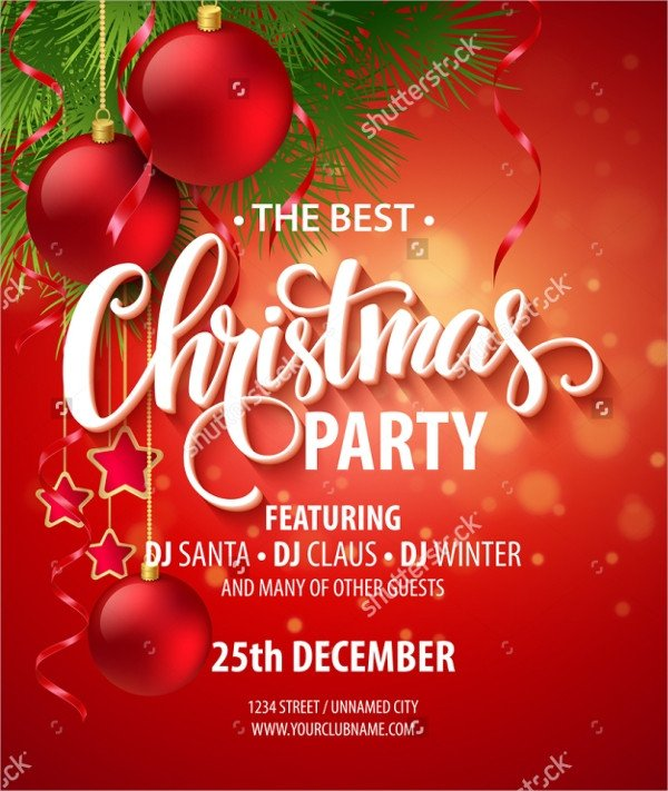 Free Christmas Party Invitation Templates 32 Christmas Party Invitation Templates Psd Vector Ai
