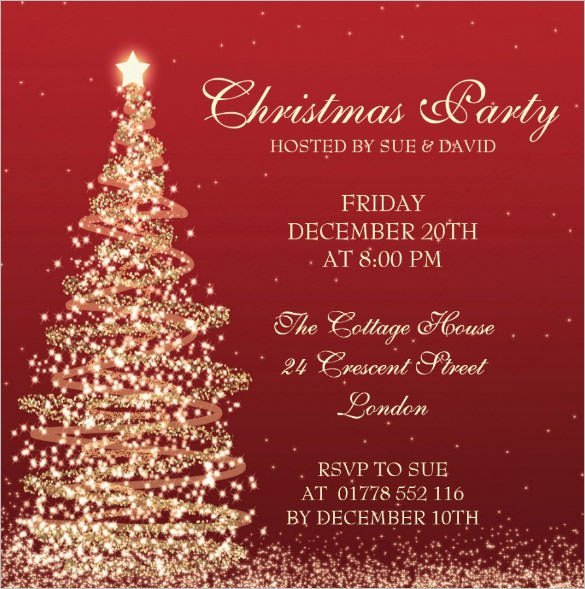 Free Christmas Party Invitation Templates Christmas Invitation Template – 26 Free Psd Eps Vector