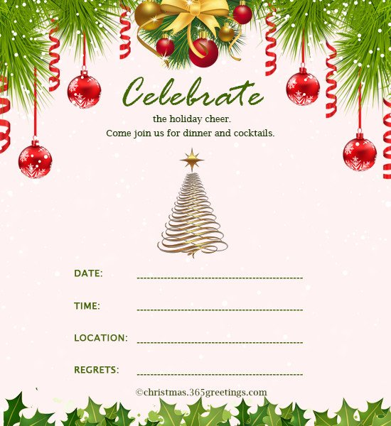 Free Christmas Party Invitation Templates Christmas Invitation Template and Wording Ideas