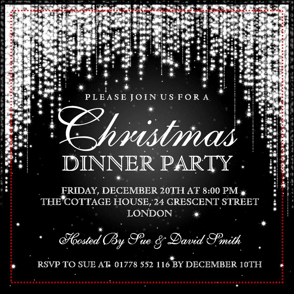 Free Christmas Party Invitation Templates Christmas Invitation Template