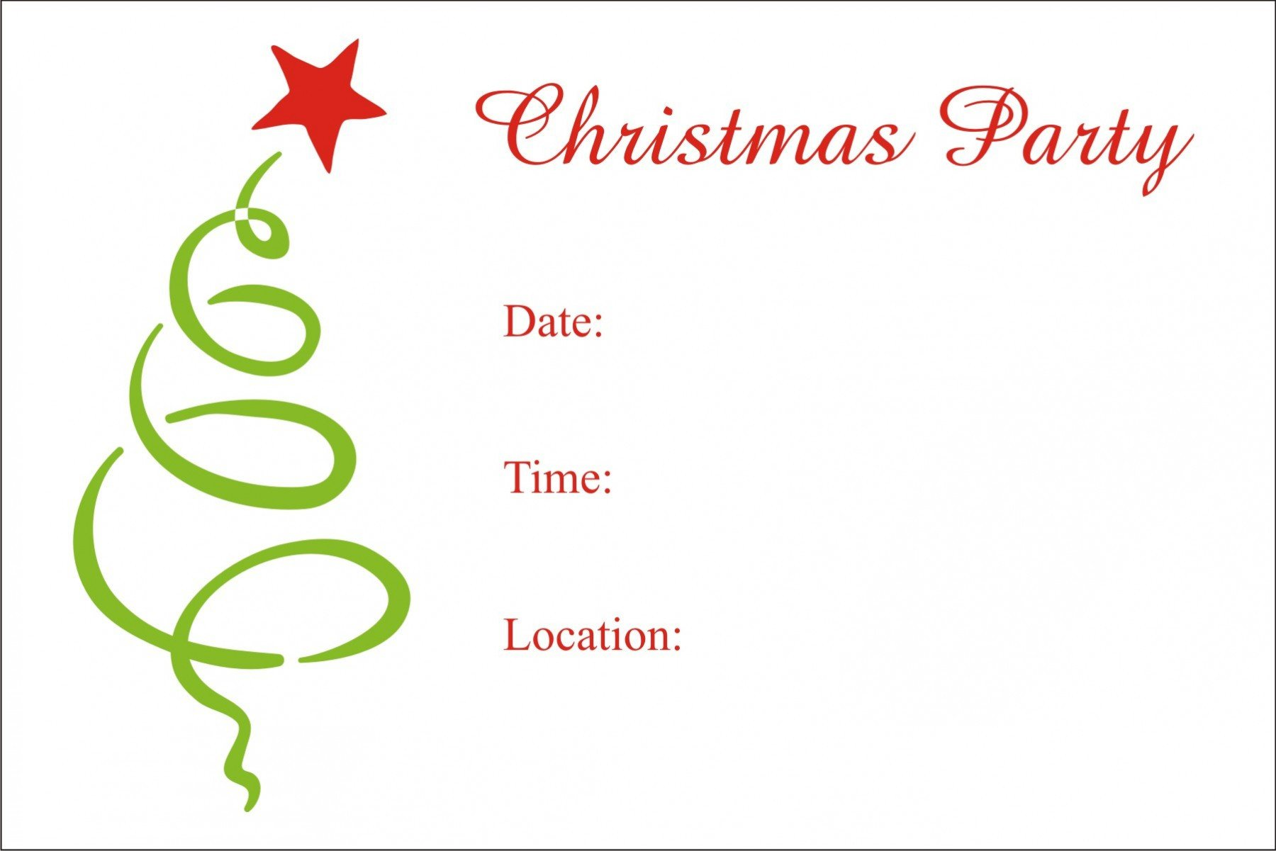 Free Christmas Party Invitation Templates Christmas Party Free Printable Holiday Invitation