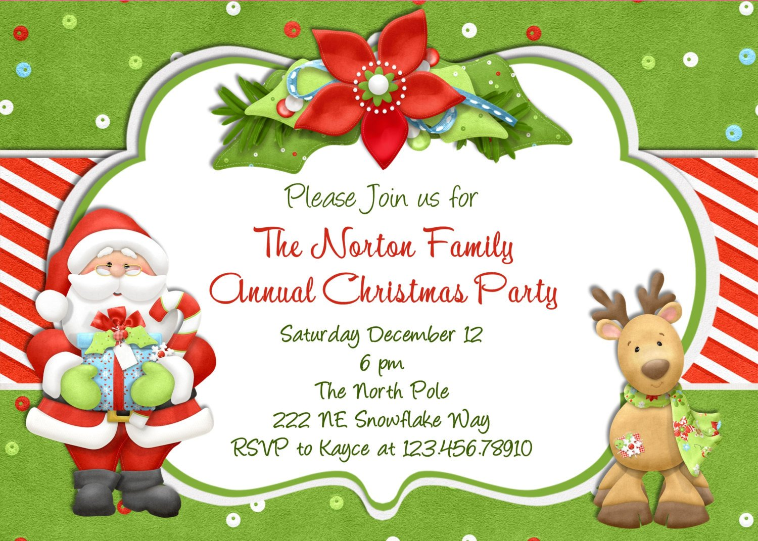 Free Christmas Party Invitation Templates Christmas Party Invitation Christmas Holiday Party