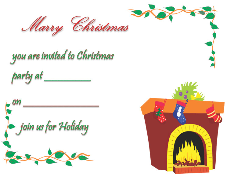 Free Christmas Party Invitation Templates Christmas Party Invitation Template Free & Printable