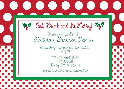 Free Christmas Party Invitation Templates Free Christmas Lunch Invitations