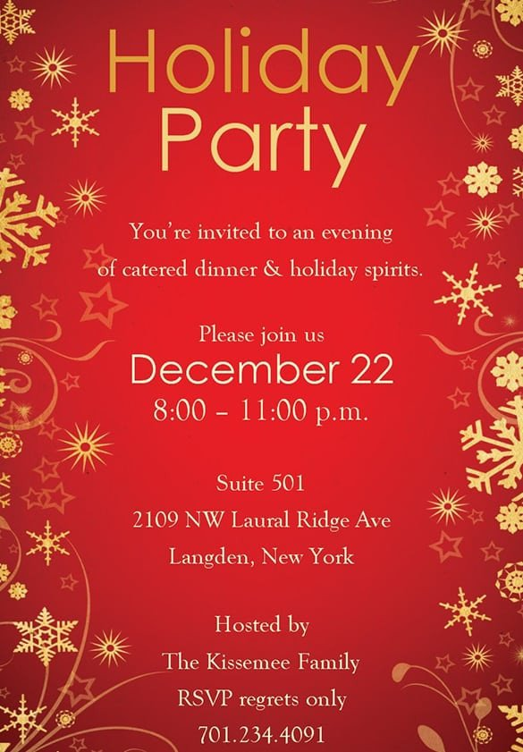 Free Christmas Party Invitation Templates Free Christmas Party Invitation Templates
