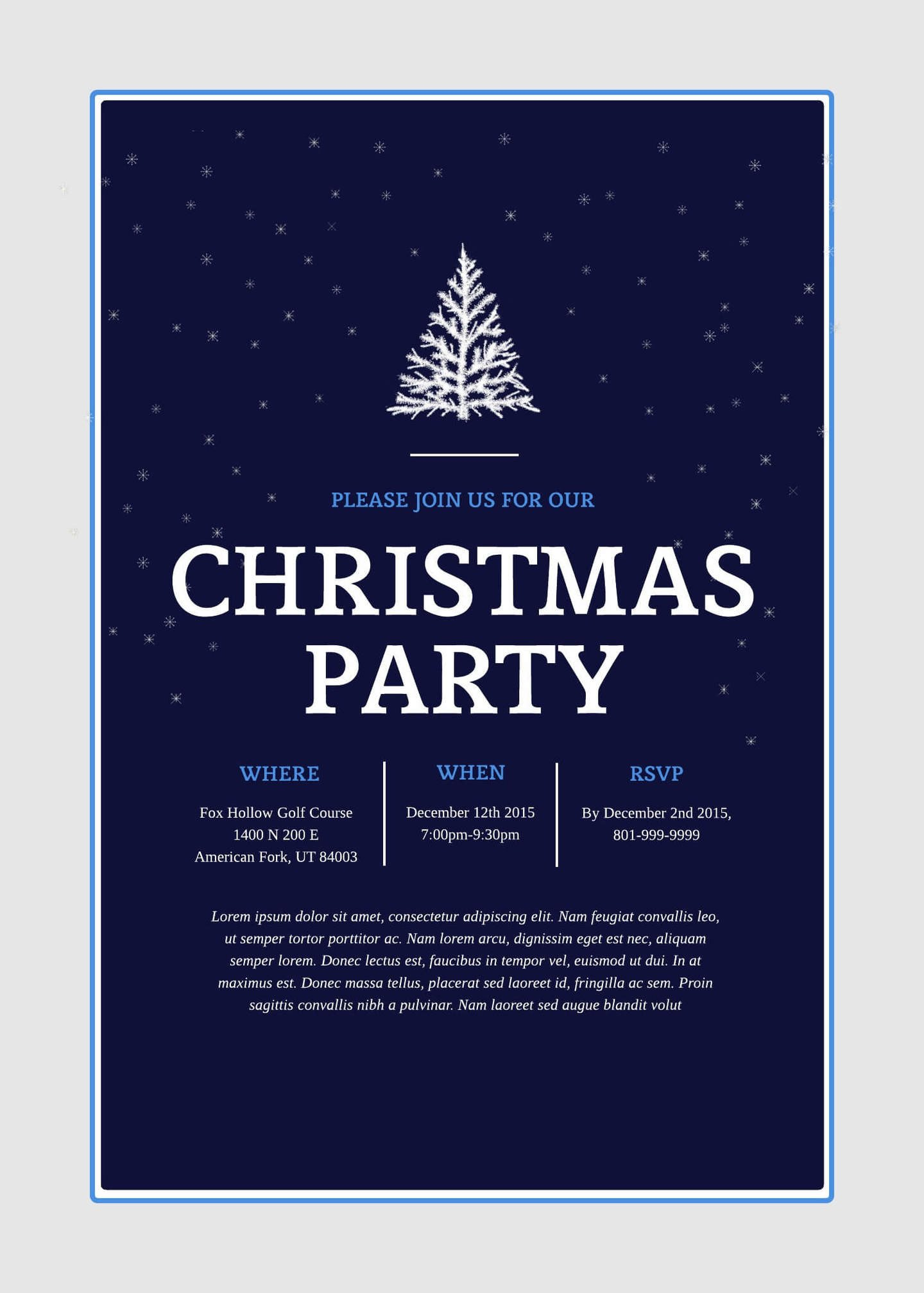 Free Christmas Party Invitation Templates Print and Win Holiday Sweepstakes