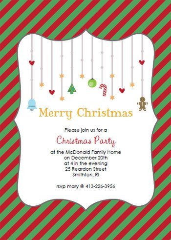 Free Christmas Party Invitation Templates Printable Christmas Party Invitations