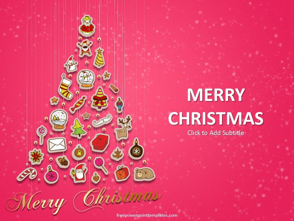 Free Christmas Powerpoint Templates Free Christmas Tree Powerpoint Template