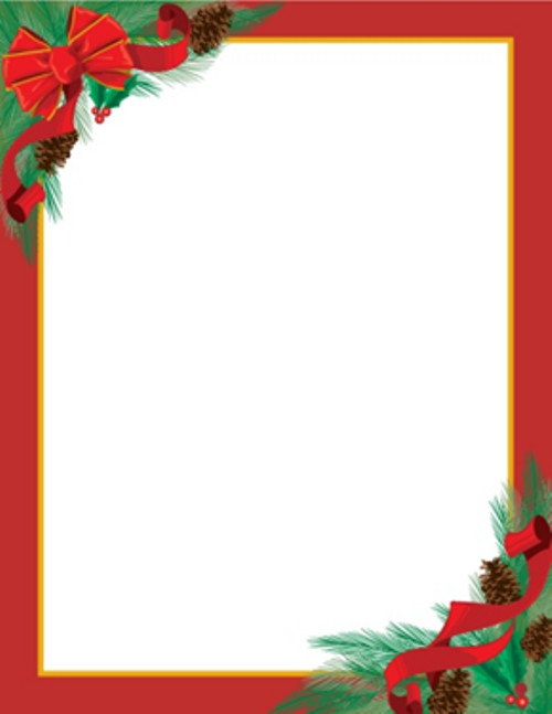Free Christmas Stationery Templates Christmas Letterhead On Pinterest