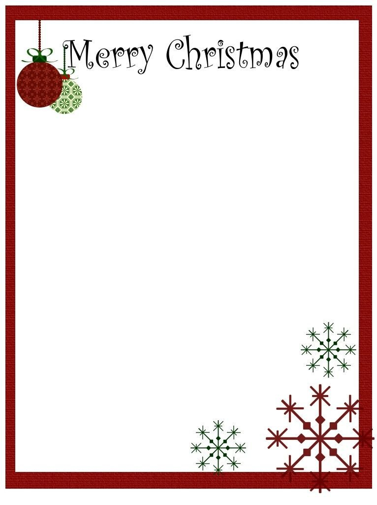 Free Christmas Stationery Templates Free Clip Art Borders and Frames with Children
