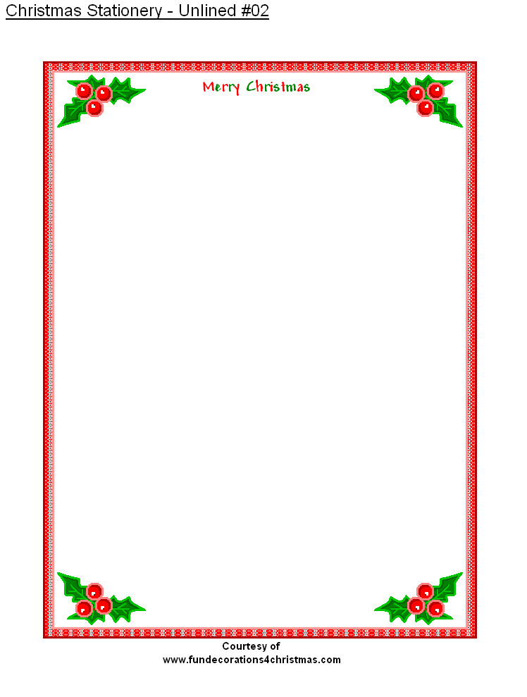 Free Christmas Stationery Templates Free Printable Stationery