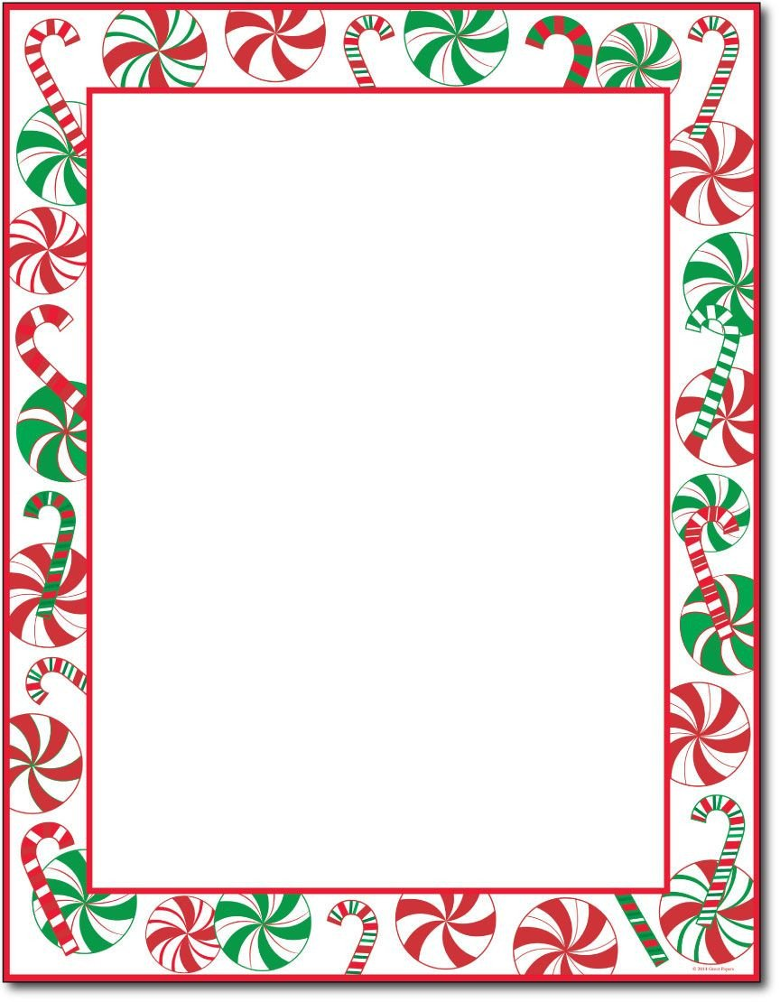 "Free Christmas Stationery Templates This Stationery Measures 8 1 2"" X 11"" and is Made On A"