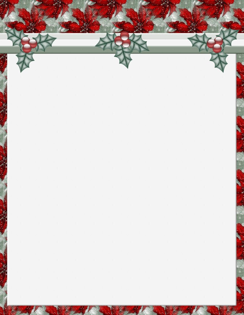 Free Christmas Templates for Word Christmas 2 Free Stationery Template Downloads