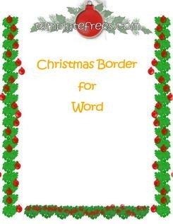 Free Christmas Templates for Word Christmas Printable Templates and Templates On Pinterest