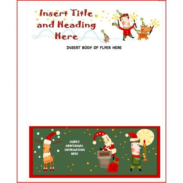 Free Christmas Templates for Word Create A Christmas Flyer Line with these Methods