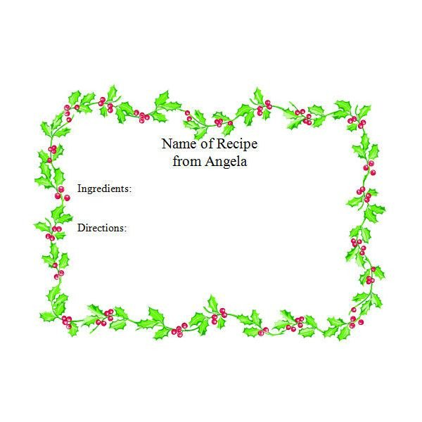 Free Christmas Templates for Word Free Christmas Holiday Templates and More for Microsoft Fice