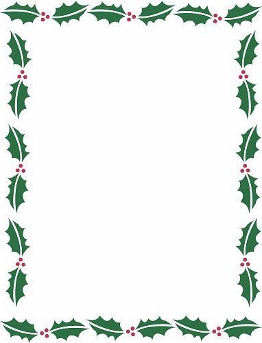 Free Christmas Templates for Word Holiday Borders for Microsoft Word