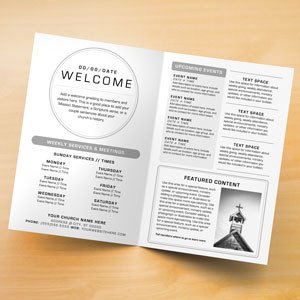 Free Church Bulletin Templates Church Bulletins Bulletin Printing Template