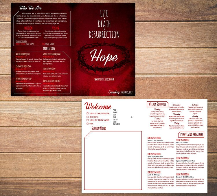 Free Church Bulletin Templates Free Church Bulletin Templates Customize In Microsoft Word