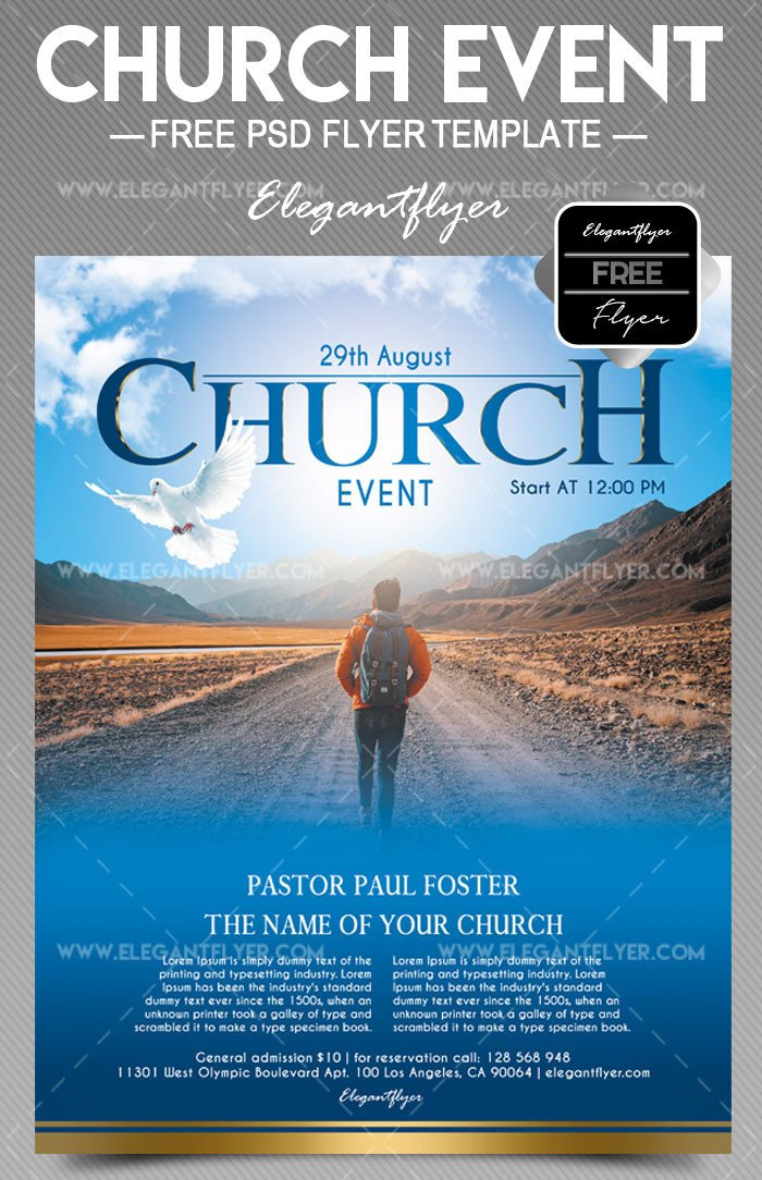 Free Church Flyer Templates 34 Free Psd Church Flyer Templates In Psd for Special