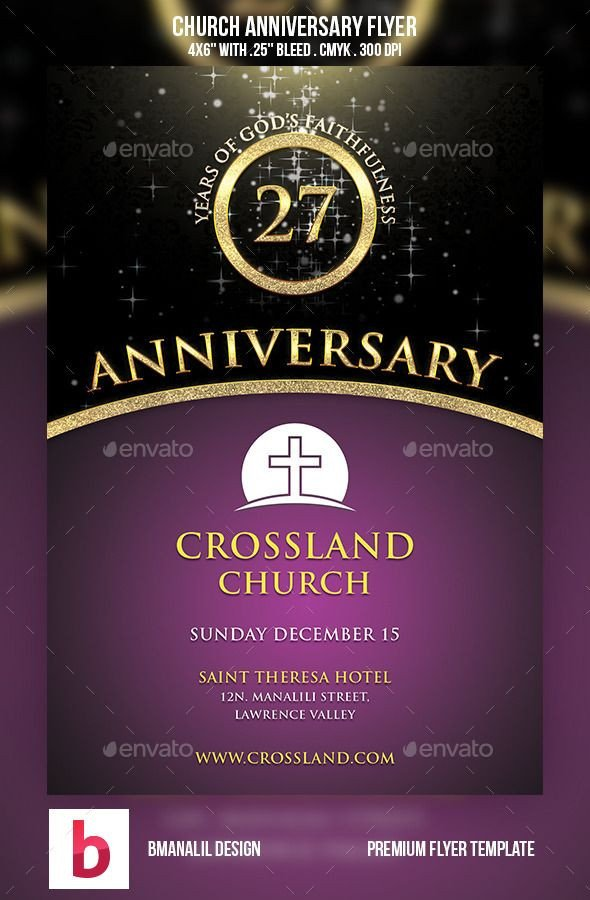 Free Church Flyer Templates Church Anniversary Flyer Flyers