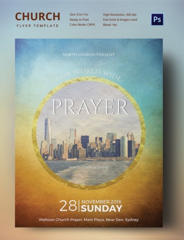 Free Church Flyer Templates Church Flyers 26 Free Psd Ai Vector Eps format