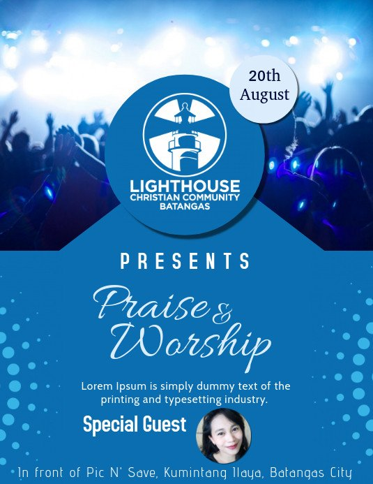 Free Church Flyer Templates Church Flyers Template