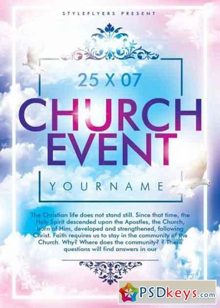 Free Church Flyer Templates Photoshop Church event Psd Flyer Template Free Download Shop