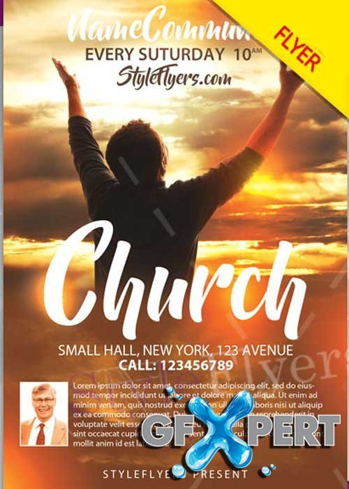 Free Church Flyer Templates Photoshop Free Church Psd V12 Flyer Template
