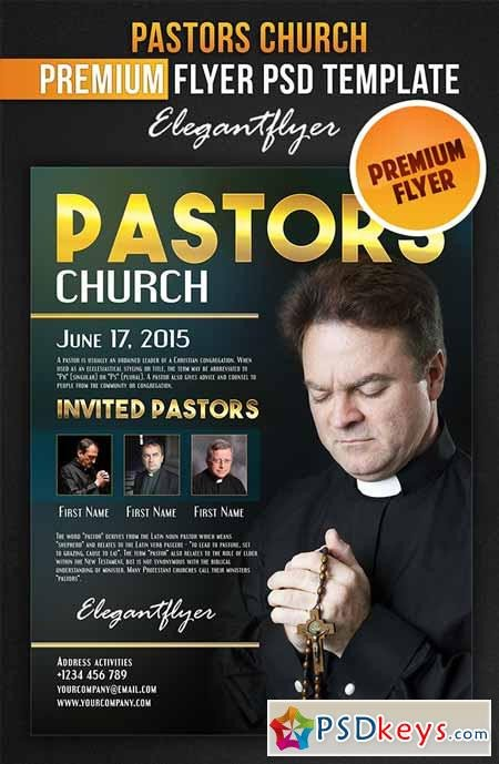 Free Church Flyer Templates Photoshop Pastors Church – Flyer Psd Template Cover