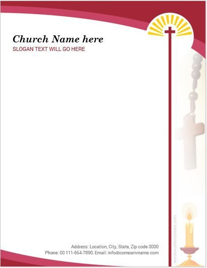 Free Church Letterhead Templates 5 Best Ms Word Church Letterhead Templates