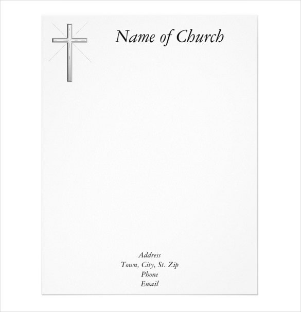 Free Church Letterhead Templates Free Church Letterhead Templates