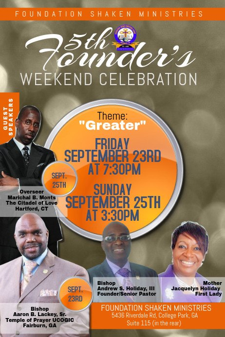 Free Church Revival Flyer Template Church Flyer Template