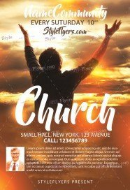 Free Church Revival Flyer Template Church