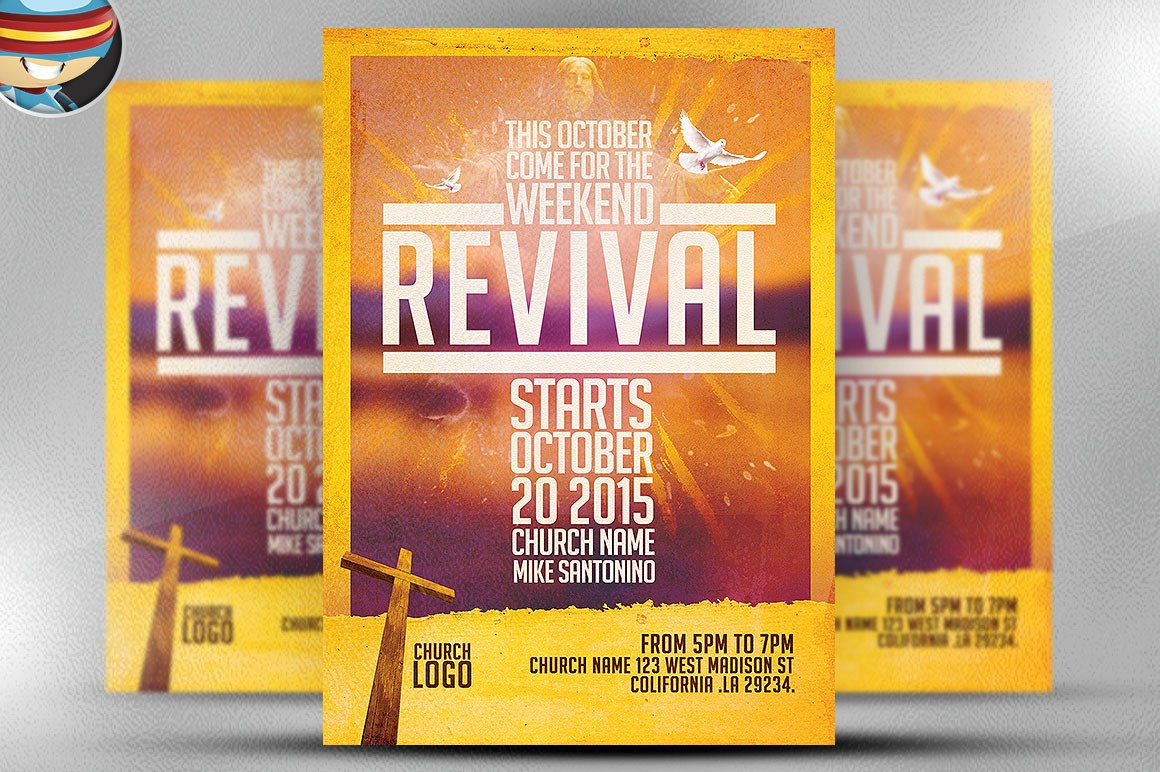 Free Church Revival Flyer Template Church Revival Flyer Template Flyer Templates On