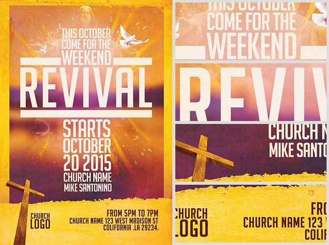 Free Church Revival Flyer Template Church Revival Flyer Template Flyerheroes